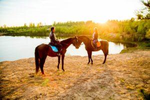 конная прогулка на двоих