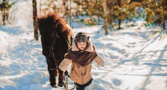 детская фотосессия на лошадях